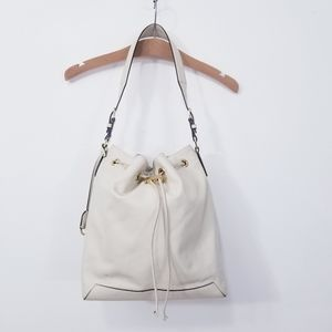 Reiss London Maya Toggle Leather Bucket Bag
